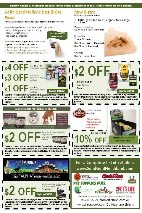 April Coupon Flyer  Northland Natural Pet