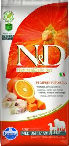 ND Grain Free PUMPKIN 12kg Adult Medium&Maxi CODFISH [3D_Front]@printSM