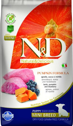 ND Grain Free PUMPKIN 2.5kg Puppy Mini LAMB [3D_Front]@print